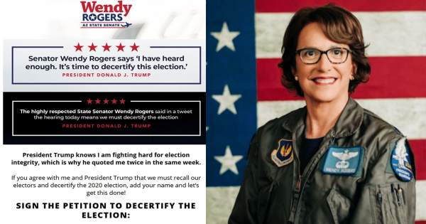 Wendy Rogers Nets Nearly 1 Million Signatures Calling To Decertify Arizona Election Ahead Of Audit Results - National File