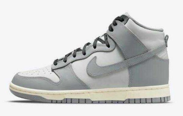 Fashion Sale Nike Dunk High Dress Up Grey White Colorway