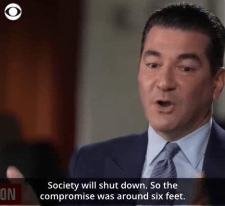 """Former FDA Commissioner Dr. Scott Gottlieb: """"Nobody Knows"""" The Origins Of The 6-Foot Social Distancing Rule - That May Not Be True (Video) - The Washington Standard"""