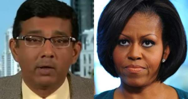 """Watch Dinesh D'Souza Calls Out Michelle Obama, Says What Few Dare To Say: Her College Thesis From Princeton Was """"Illiterate and Incoherent"""" - Deplorable Tribune"""