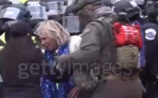 Newly Released Video Shows Jan. 6 Political Prisoner Jeremy Brown Saving a Female Trump Supporter Who Was Trampled by Capitol Police - MUST SEE UNTIL THE END!