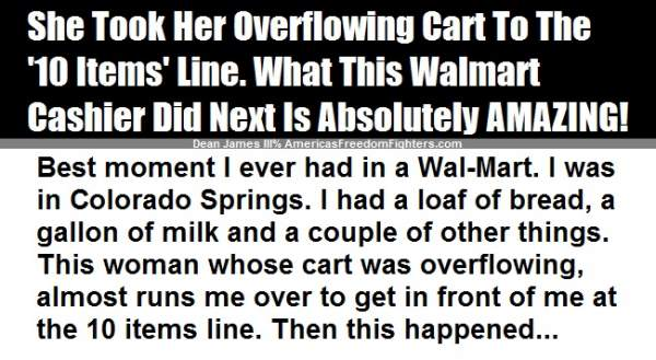 """Lady Takes A Full Cart To The """"10 Items Or Less"""" Line – Then, THIS Happened!"""